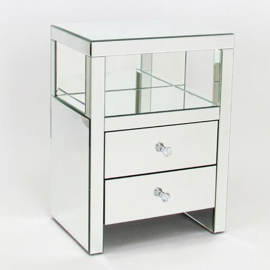 "$285 USD - Wayworn Beveled Mirror End Table - 26""H x 19""W x 14""D"