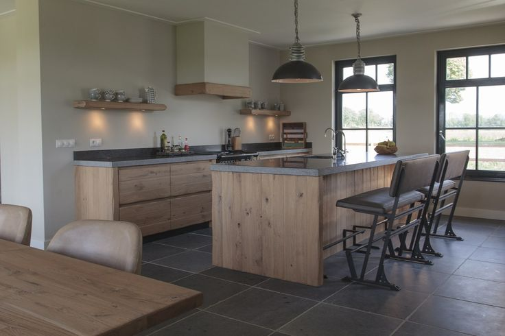 Kitchen. Wood. Concrete.