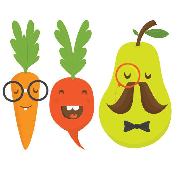 I made some fun temporary tattoos for Tattyoo featuring fruit and veg characters.