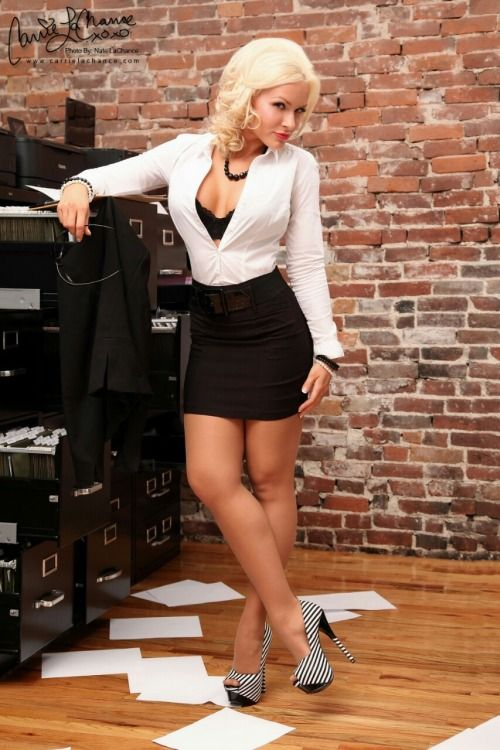 Carrie LaChance as ms secretary