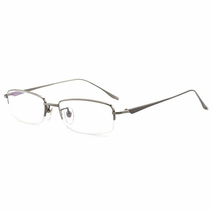 Top Quality Brand Designer Prescription Semi-rim Optical Goggles Male Eyewear Men Titanium Eyeglasses Frames with Clear Lenses