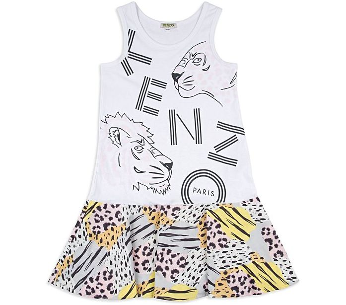 Base Childrenswear Introduces Kenzo for SS17 - Girls Animal Dress
