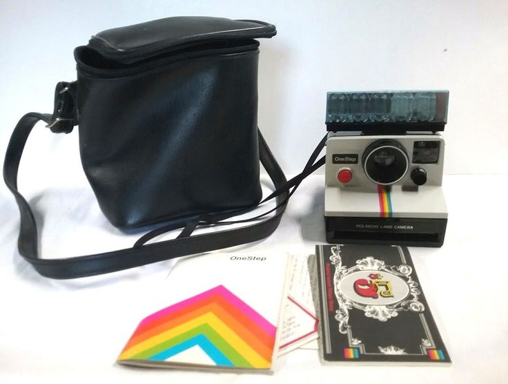 Polaroid One Step Land Instant Camera w/Manual, Strap, Carrying Case UNTESTED #Polaroid
