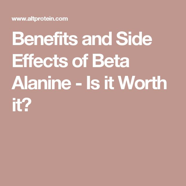 Benefits and Side Effects of Beta Alanine - Is it Worth it?