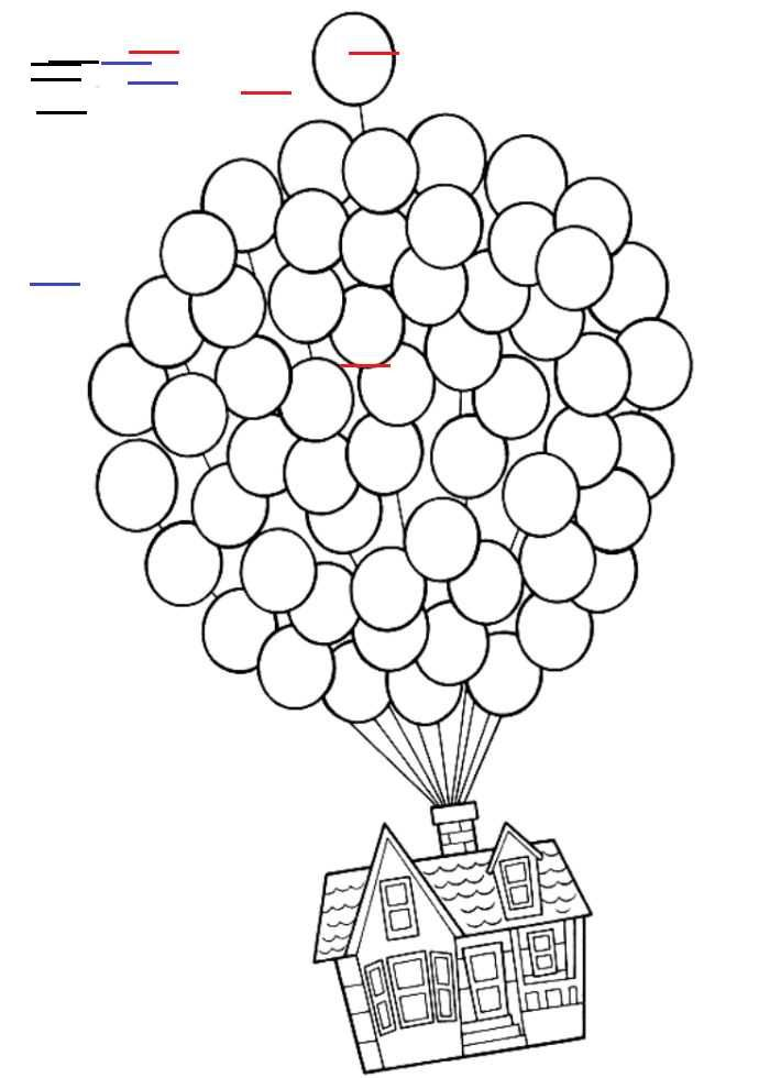 Herauf Das Haus Das In Die Himmel Farbtonseite Fliegt House Colouring Pages Cars Coloring Pages Coloring Pages