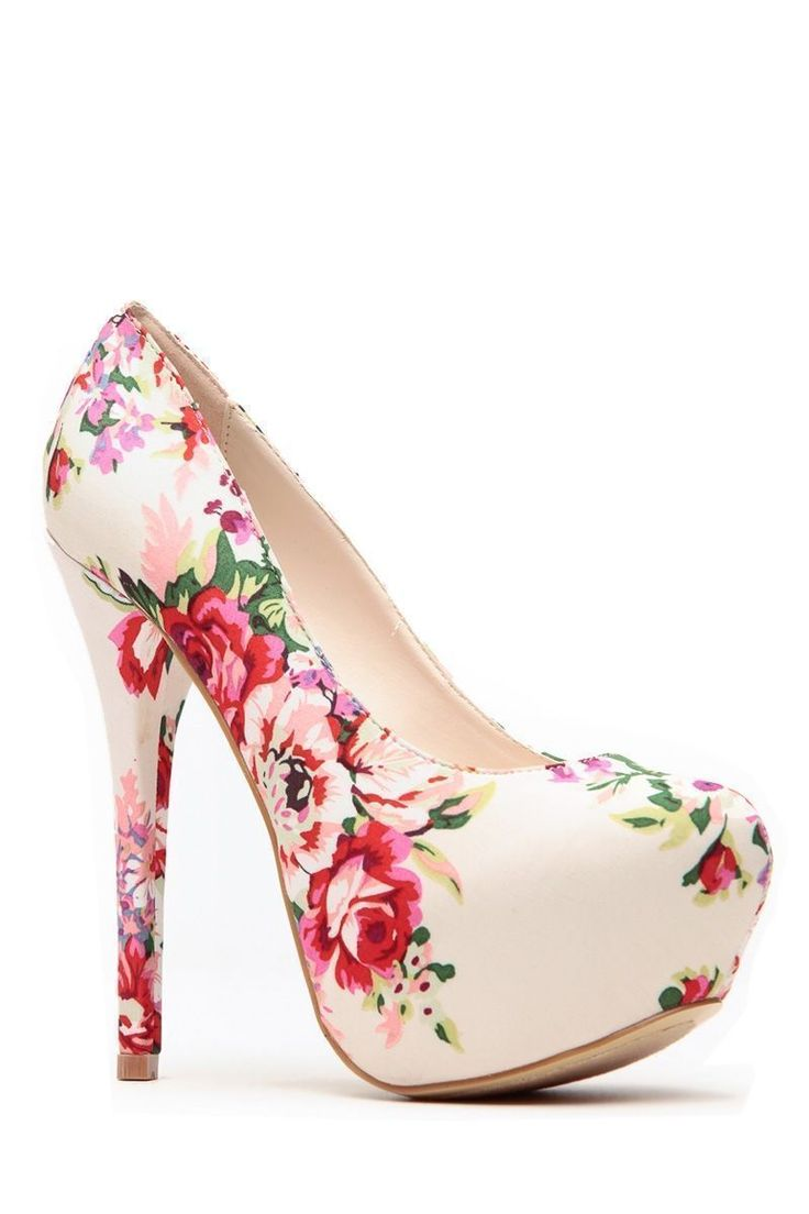 Beige Floral Print Platform Pumps @ Cicihot Heel Shoes online store sales:Stiletto Heel Shoes,High Heel Pumps,Womens High Heel Shoes,Prom Shoes,Summer Shoes,Spring Shoes,Spool Heel,Womens Dress Shoes #platformhighheelsfloralprints #promshoespumps #hothighheelslingerie