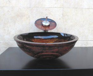 Bathroom Artistic Glass Vessel Vanity Sink Faucet 9003F-combo set - Amazon.com