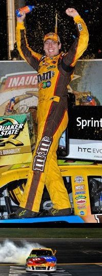 Kyle Busch Hunter said this is for Aunt Ninny!      Yeah right . Take notice which board I put him on!!!!