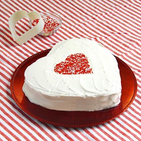 Make your own Valentine's Day cake with this easy chocolate cake recipe. Even better, you don't need a heart-shaped cake pan for this recipe. Topped...