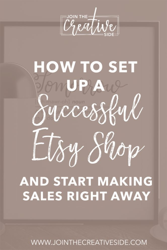 I will guide you through every step to set up your successful Etsy shop, so you are ready to make sales right away. Etsy, Etsy shop Tips, Successfull etsy tips, etsy making money, get started with etsy #etsy #etsyshop #etsyshoptips #getstartedwithetsy #successfuletsy