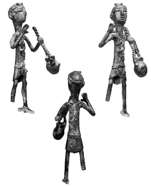Sardinia, bronze sculpture representing a bidder