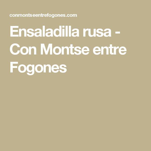 Ensaladilla rusa - Con Montse entre Fogones