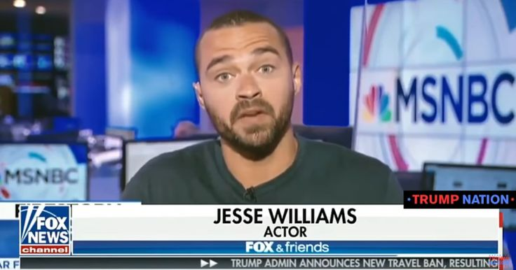 "With video. ""Grey's Anatomy"" actor Jesse Williams claimed the national anthem is part of a government scam to get young people to join the military."