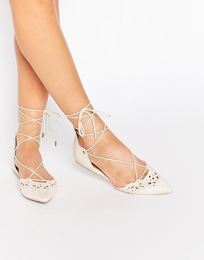 Click To Buy These Laser Cut Ghillie Lace Up Flat Shoes. #wedding #bride #bridal