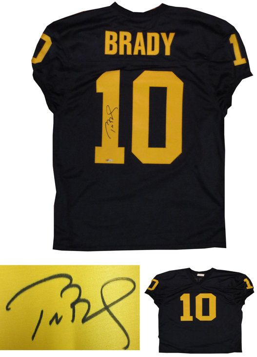 Tom Brady Signed Michigan Football Jersey TriStar Patriots signed autographed