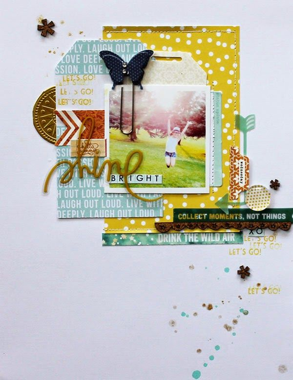 #papercraft #scrapbooking #layout - Random Ramblings...: Gossamer Blue - Part 2 - Melanie Blackburn