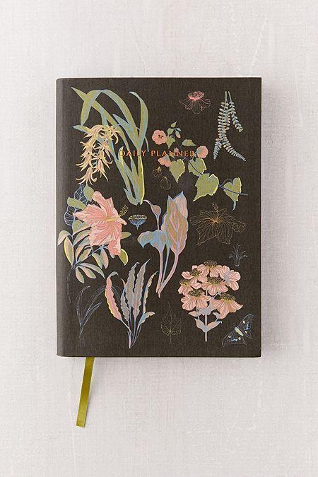 Ohh Deer Black Floral Daily Journal