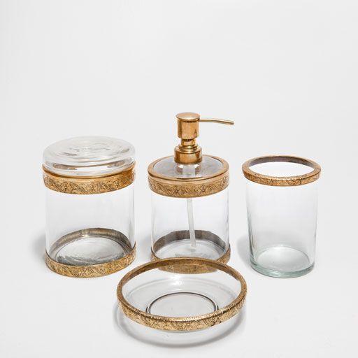 Bath Set Cut Glass