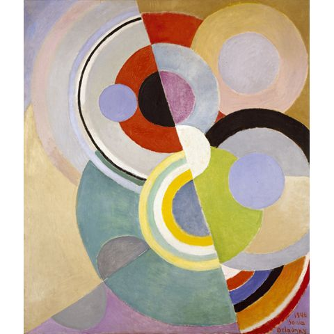 """Sonia Delaunay, Rythme Coloré (Colored Rhythm), 1946, in """"Color Moves: The Art and Fashion of Sonia Delaunay,"""" 2011, at the Cooper-Hewitt, National Design ..."""