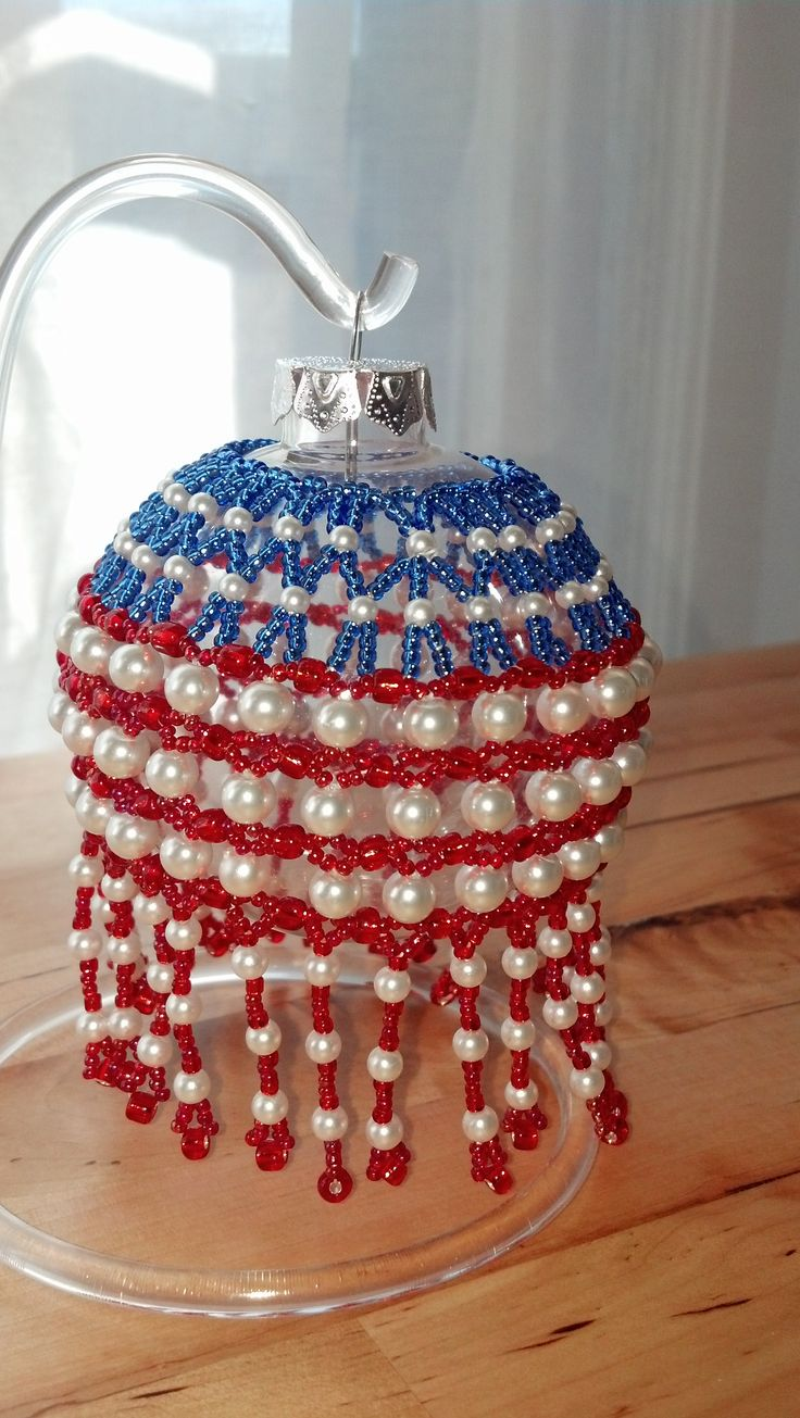"Ornament Raffle!!   Get a chance to win one of my handmade Christmas ornaments! This patriotic ornament is hand strung of glass beads and pearls, just in time for Veterans Day. All you need to do is go to one of three book signing event and purchase a copy of the book about Gold Star Mothers called ""Our Sons, Our Heroes.""    The book signing schedule is posted on the author's website: http://www.sonrisapress.com"