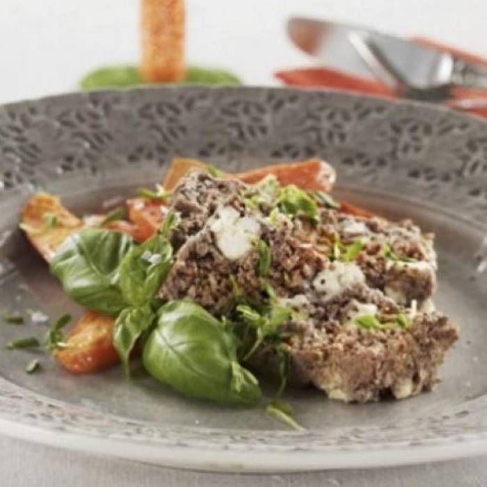 Köttfärslimpa, fetaostfylld - Mitt kök