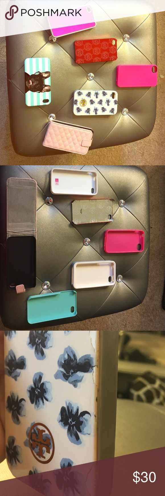 Name Brand iPhone 4s Phone Cases Name Brand iPhone 4s Cases. I am selling each of them for $8.00 a case but if you want to bundle them & buy them all, I will give u a GREAT discount 👍. The Tory Burch Case, is the only one with minor scuffs (shown in pic). Michael Kors, Tory Burch, 3 Pink Cases & 1 French Bulldog Case Accessories Phone Cases