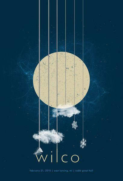 Inspiração, Cartazes de Rock: Wilco.