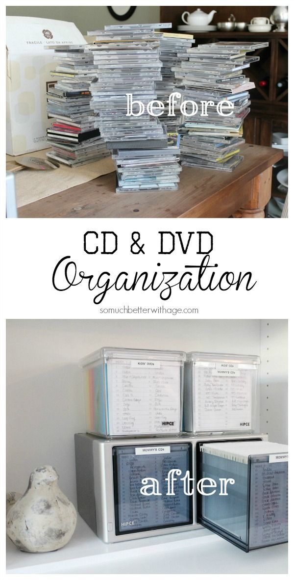 CD and DVD Organization | So Much Better With Age                                                                                                                                                      More