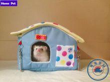 Rosa/Azul Mini Pet Hamster Casa Africano mini Ouriço Casa Pequeno Animal Pássaro Papagaio Gaiola de Hamster do animal de Estimação Canil Livre grátis M45(China (Mainland))