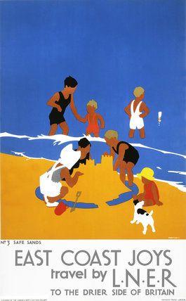 'East Coast Joys', LNER poster, 1932., Purvis, Tom
