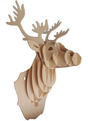 Deer head #construction kit - wood #craft plaque self assembly - #decorate stag d,  View more on the LINK: 	http://www.zeppy.io/product/gb/2/321780089201/