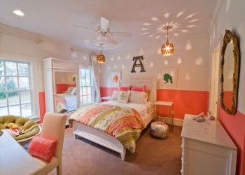 Pembe beyaz yatak odaları