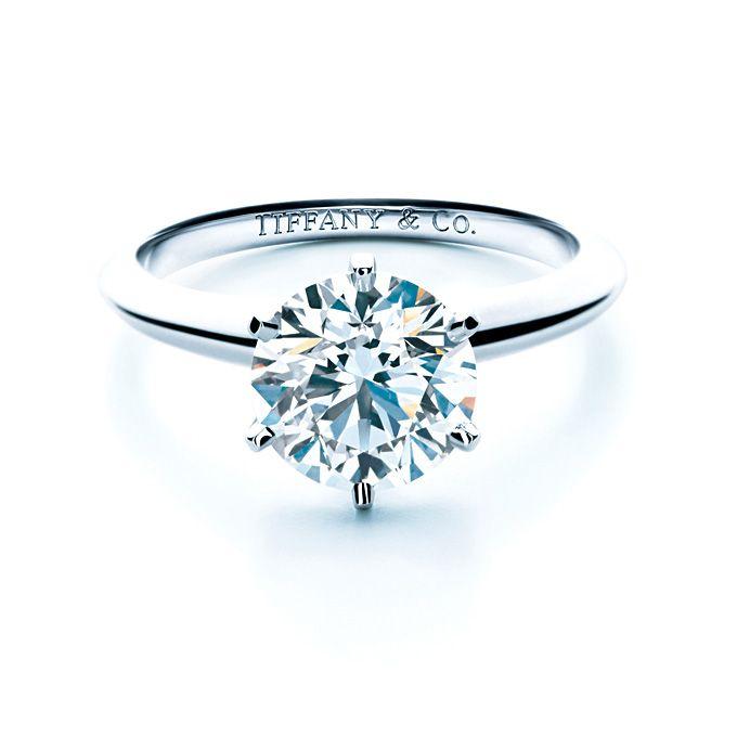 Tiffany & Co. . Tiffany setting engagement ring in platinum, $88,000, Tiffany & Co.