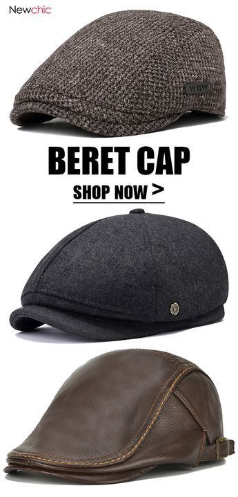 963155cf Mens Caps · Wool Felt · A beret is a soft, round, flat-crowned hat, usually  of woven