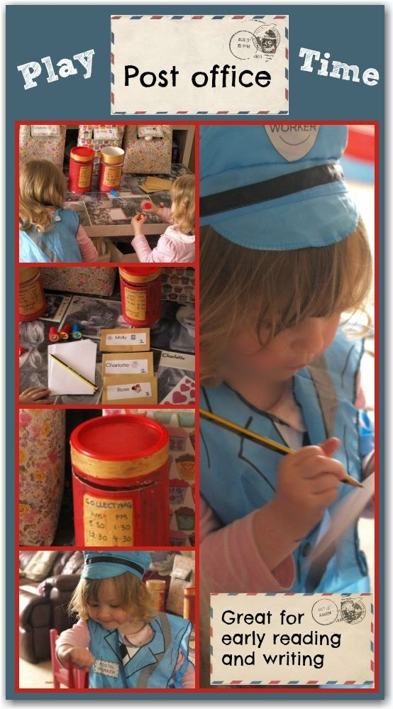 Role play post office for preschoolers: a great way to encourage early reading and writing skills while having lots of fun!