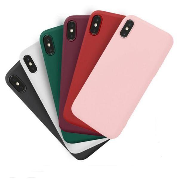 Coque en silicone ultra slim de couleur mate pour iPhone XS Max ...