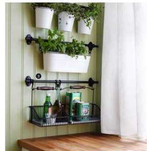 Hanging herb garden from the 2012 Ikea catalog... would love to do on our back porch!!