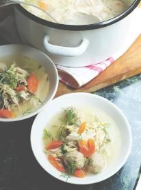 Nourishing chicken soup with traditional matzo balls You have to try this absolute classic comfort food dish – you just can't beat a feel-better chicken soup recipe. Heaven in a bowl.