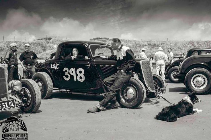 Dry Lakes Racing Vintage Photo Of Open Wheel Three Window