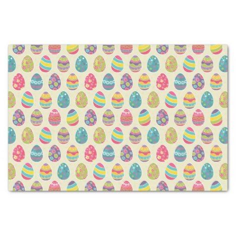 Classy Retro Easter Eggs Happy Easter Day Tissue Paper #easter #crafting #supplies #craft #making #projects