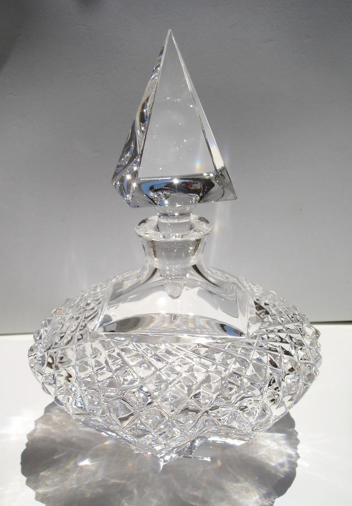 Cut crystal. Leaded Crystal Prefume Bottle.