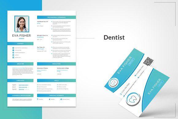 Printable Resume For Dentist Template