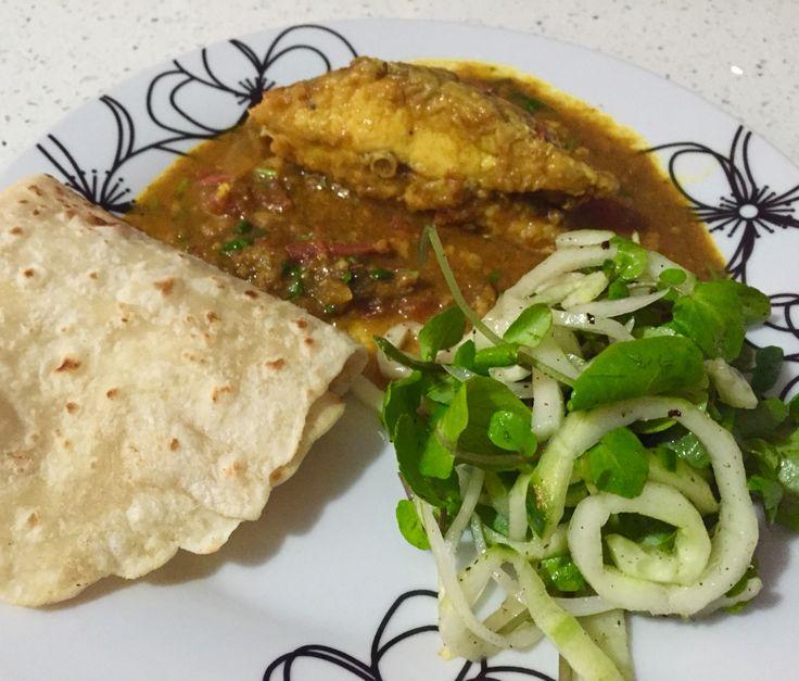Mauritian food - fish curry