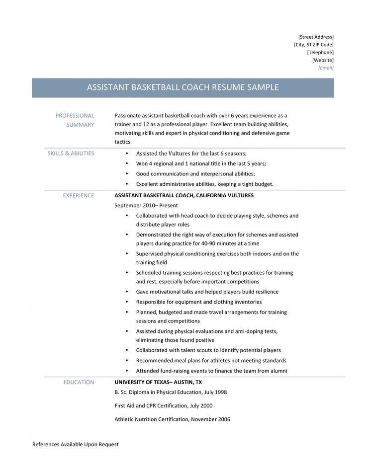 Get Our Example Of Coaching Job Description Template For Free In 2021 Resume Job Description Resume Summary
