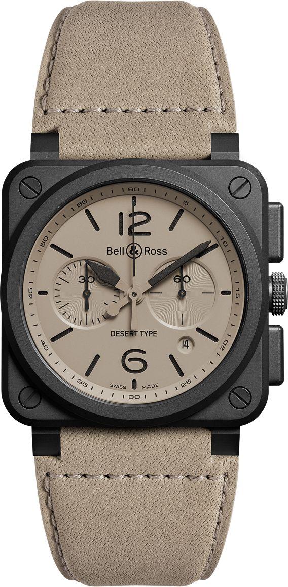 La Cote des Montres : Montres Bell & Ross BR Desert Type - Militaire dans l'âme