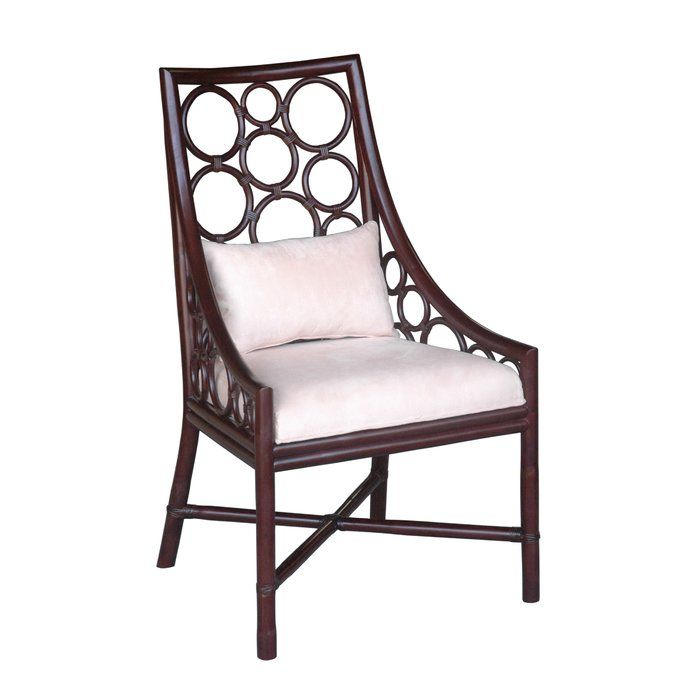 The Roman Side Chair takes its inspiration from the colonial teak wood and rattan furniture of the Caribbean. The tropical resort design and clean traditional coloring guarantees glamor in any space.