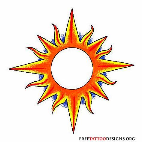 65 Sun Tattoos | Tribal Sun Tattoo Designs