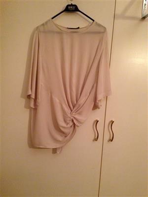 %69 indirimli Zara Üst Zarawomen acik bej (kum rengi)ince dokumlu bluz | Modacruz