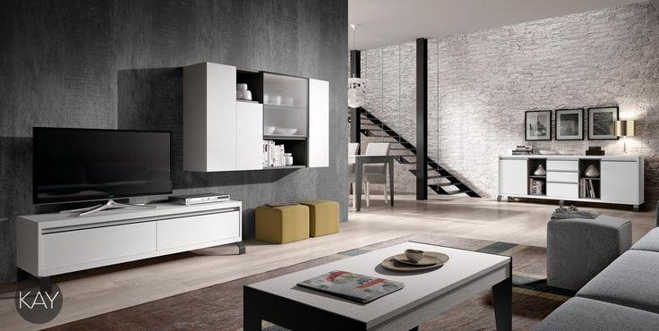 Muebles bajos para la televisi n de la colecci n kay - Muebles para la tele ...