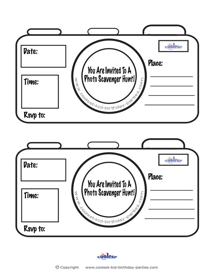 Printable Photo Scavenger Hunt Invitations - Free Scavenger Hunt Ideas and Printables